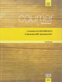 L'évolution du CDH (2004-2011) II. Décembre 2007-décembre 2011