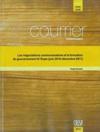 La formation du gouvernement Di Rupo (juin 2010-décembre 2011)