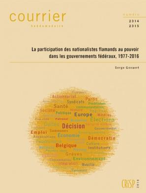 La participation des nationalistes flamands au pouvoir dans les gouvernements fédéraux, 1977-2016