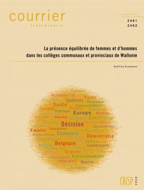 La présence équilibrée de femmes et d'hommes dans les collèges communaux et provinciaux de Wallonie