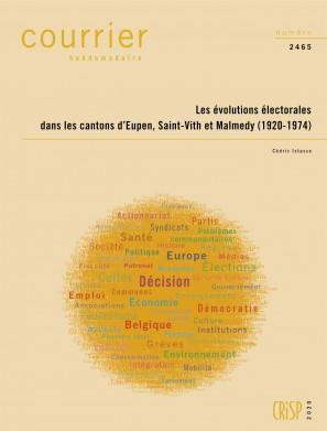 Les évolutions électorales dans les cantons d'Eupen, Saint-Vith et Malmedy (1920-1974)